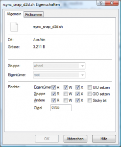 Dateiattribute von rsync_snap_d2d.sh