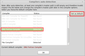 CodeBlocks - Default compiler