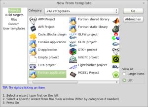 Code::Blocks - New project