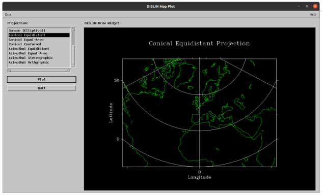 Dislin Map-Plot