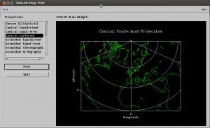 Screenshot map_f90 on Ubuntu Linux