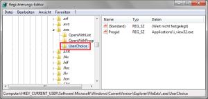 Registry - UserChoice
