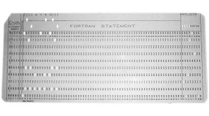 Fortran Punchcard