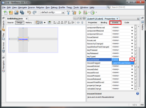 Netbeans - Events
