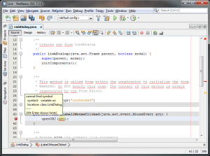Screenshot Netbeans