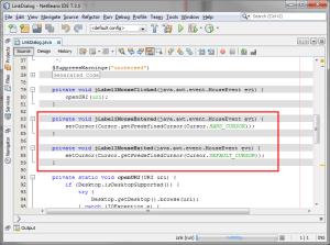 Netbeans Screenshoot