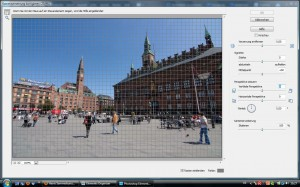 Correct lens distortion (before) - German version