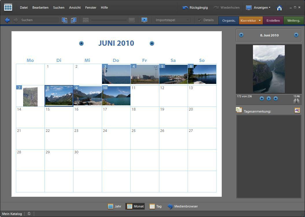 Field Report Photoshop Elements 8 (1/2) – Organizer – Hani's ...