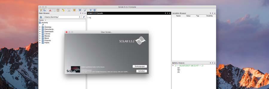 Scilab 5.5.2 on macOS Sierra