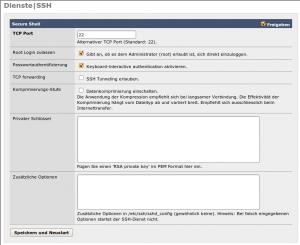 Screenshot: SSH-Diens