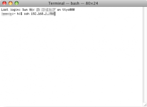 SSH in Mac OS X's terminal