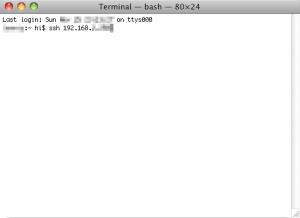 SSH in Mac OS X's terminal