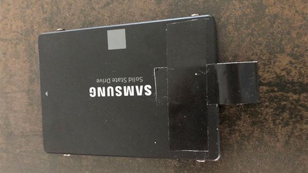 SSD mit Lasche